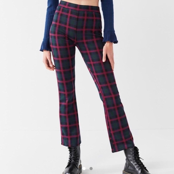 Urban Outfitters Pants - Urban Outfitters cropped plaid pants